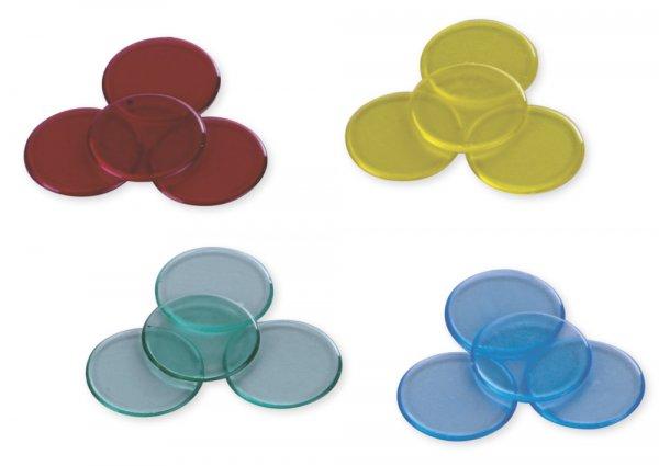 Plastik-Chips transparent,100 St.-Box