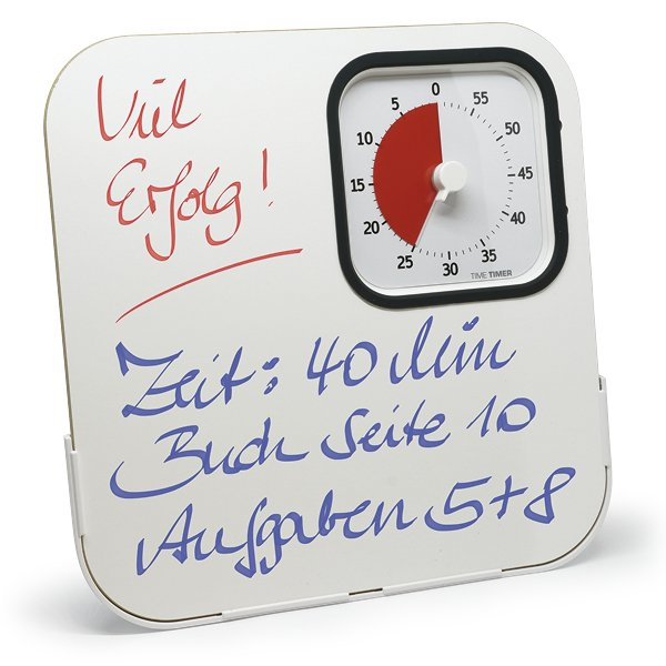 Whiteboard für Zeitdauer-Uhr m. Schutzhülle, 20x20 cm