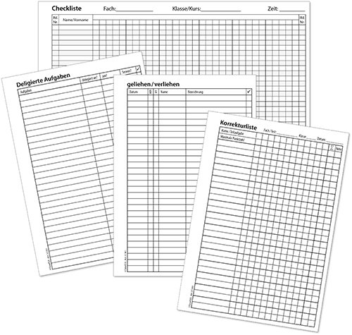 TimeTEX Download-Formulare für Ringbuchplaner A6