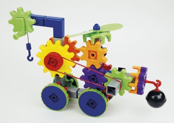 Zahnräder-Spiel, verschiedene Bauteile, 116-tlg.