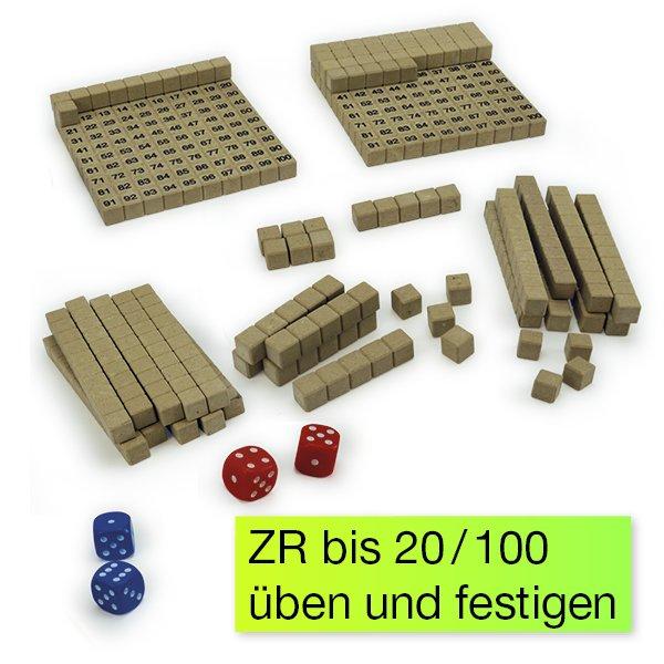 """Mathe-Spiel """"Hunderterraum"""", 62-tlg."""