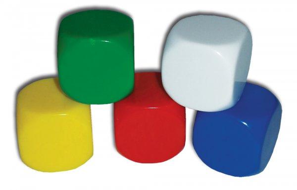 Set Blanko-Würfel 5-tlg., 20 mm