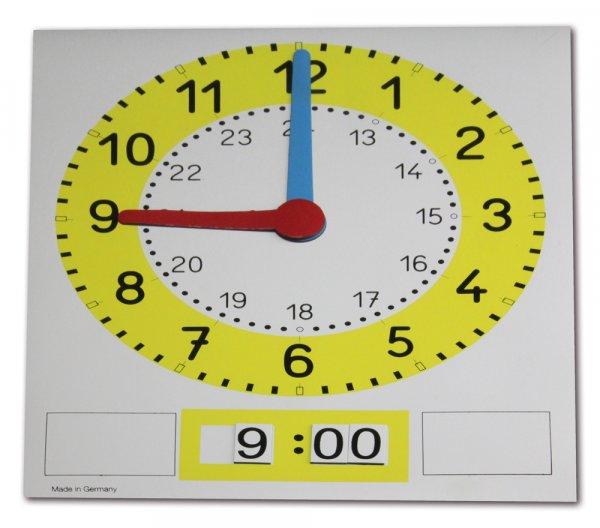 """Magnet-Tafel-Uhr """"Analog/Digital"""""""