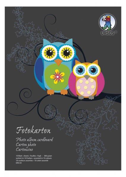 Fotokarton-Block, 10 Blatt DIN A4 300g/qm