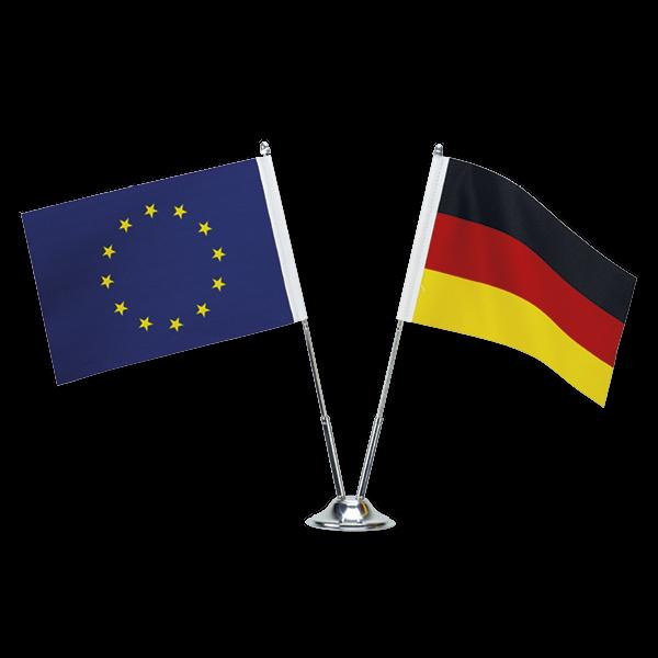 TimeTEX Stativ für Tisch-Fahne, verchromt