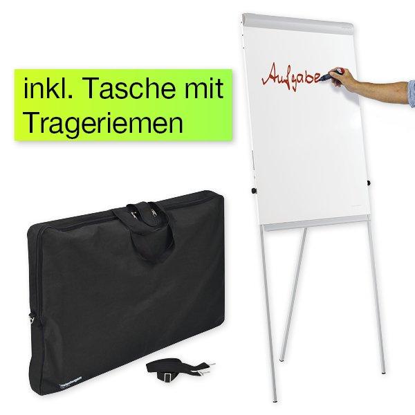 Mobil-Flipchart und Whiteboard in Tasche