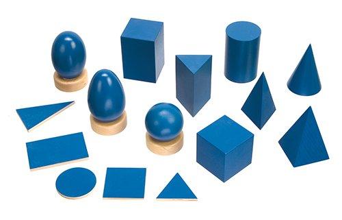 Geometrische Körper 18-tlg., Holz