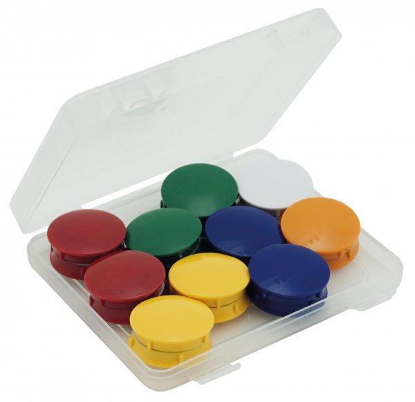 Set Haft-Magnete 38 mm ø in Box, 20-tlg.
