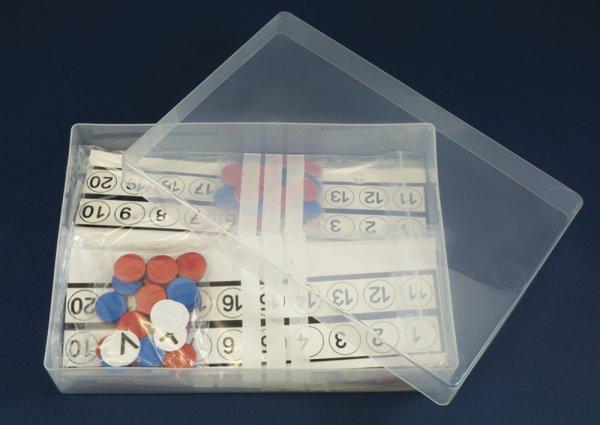 Satz Rechenleisten/Plättchen-Sets ZR 20, in Box, 198-tlg.