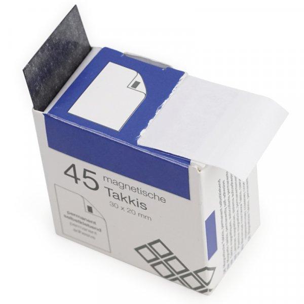 Magnet-Plättchen selbstkl. im Spender, 45 Stck.