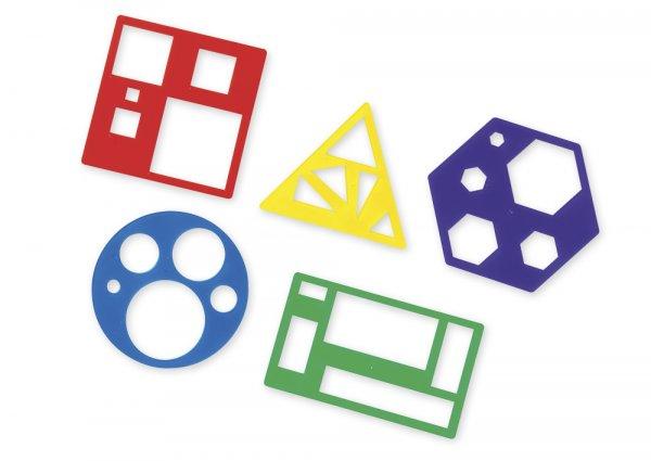 Geometrie-Flächenschablonen, 5 Stück