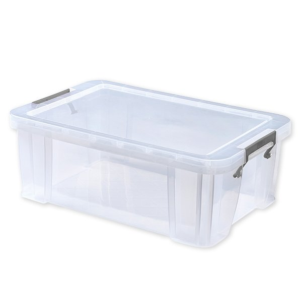 Kunststoff-Box stapelbar, transparent, 15 Liter