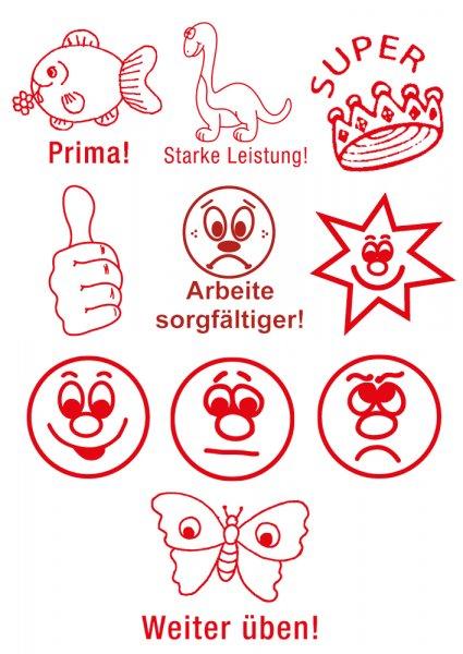 """Siebdruck-Stempel-Set """"Positive Verstärkung"""", Classic 11-tlg., in Box"""