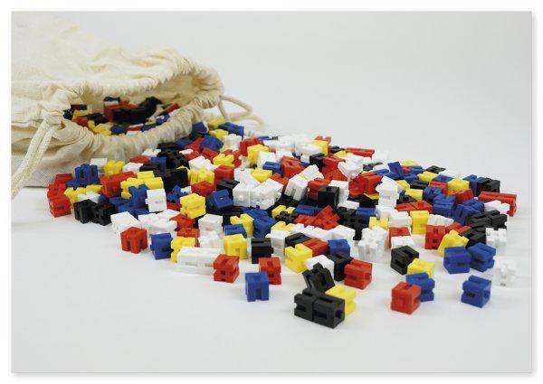 Steck-Gewichtswürfel-Satz, farbig, 1.000-tlg. im BW-Beutel