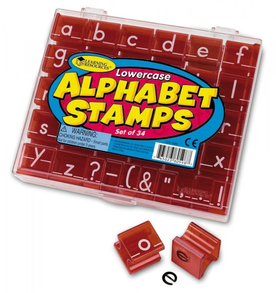 Set Alphabet-Stempel Kleinbuchstaben, 34-tlg.