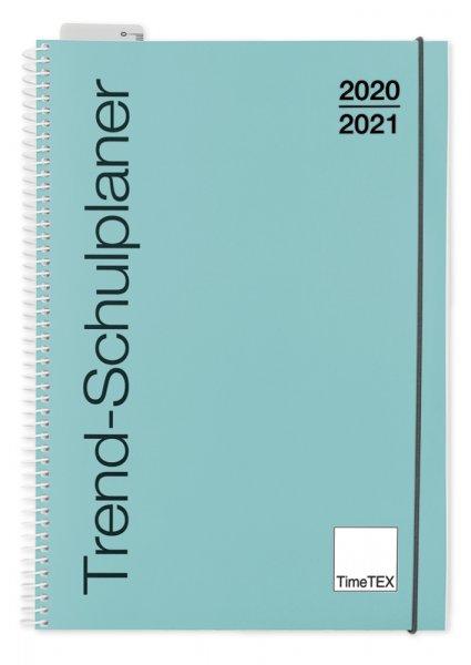 TimeTEX Trend-Schulplaner A4, 2020/2021, lagune