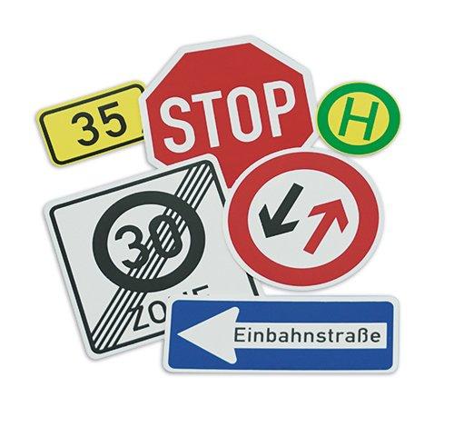 Verkehrszeichen-Box, 64-tlg., magnetisch