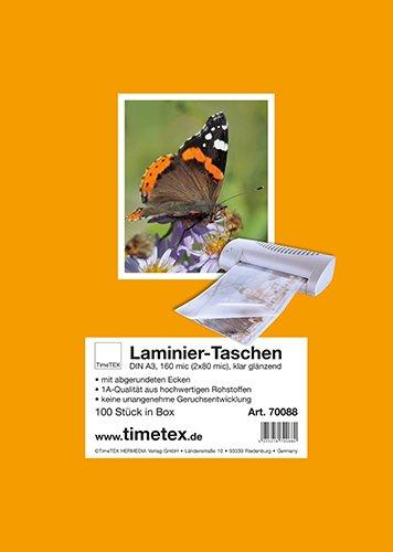 Laminier-Taschen A3 2x80 mic glänzend, 100 Stück