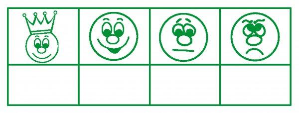 """Siebdruck-Stempel """"Perpetuum"""", """"4 Gesichter"""""""