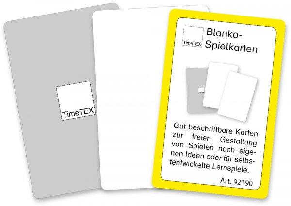 Blanko-Spielkarten im Etui, einseitig weiß