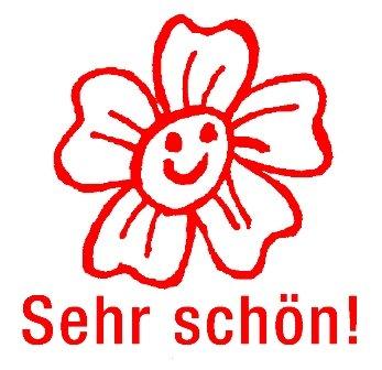 """Siebdruck-Stempel """"Perpetuum"""", Blume """"Sehr schön!"""""""