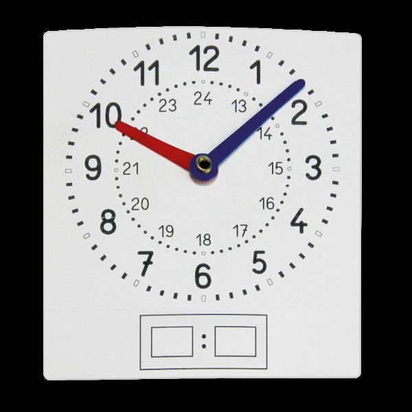 "Set Schüler-Folien-Uhren ""Analog/Digital"", 11x12 cm, 10-tlg."