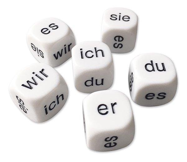 "Würfel-Set Deutsch ""Personalpronomen"" 6-tlg., 16 mm"