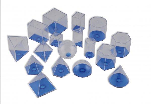 Geometrie-Körpersatz, klein, 17-tlg.