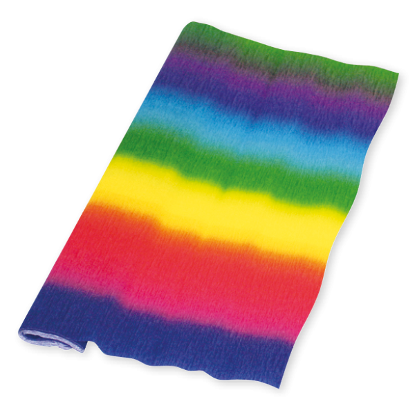 Krepppapier Regenbogen 50cm x2,50m, 32g/qm