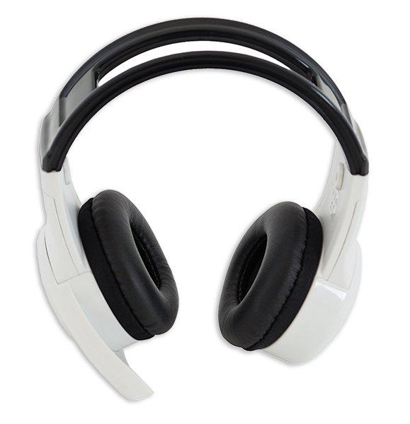 Kopfhörer mit Mikrofon, weiß