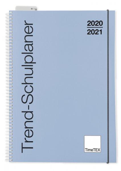 TimeTEX Trend-Schulplaner A5, 2020/2021, taubenblau
