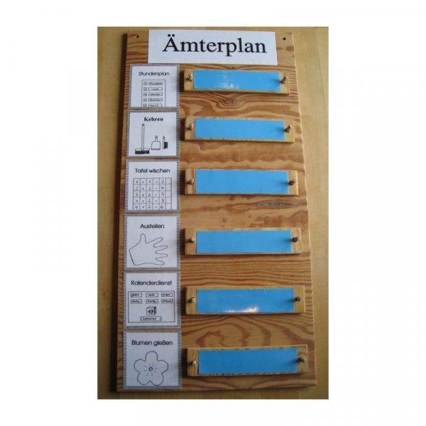 Ämterplan aus Holz