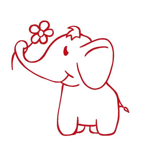 "Siebdruck-Stempel ""Perpetuum"" rund ""Elefant"""