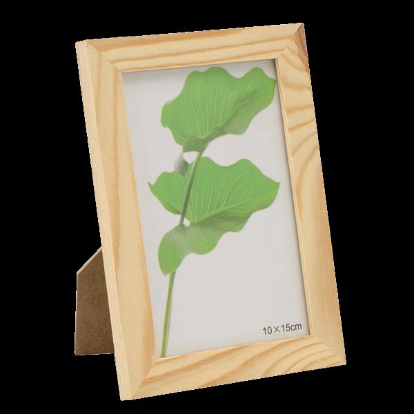 Bilderrahmen aus Holz mit Glasscheibe
