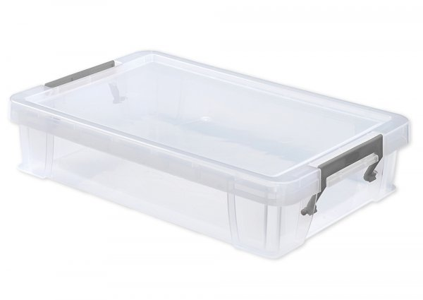 Kunststoff-Box stapelbar, transparent, 5,5 Liter (A4)
