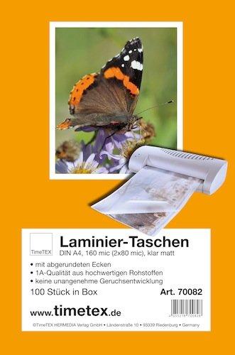 Laminier-Taschen A4 2x80 mic matt, 100 Stück