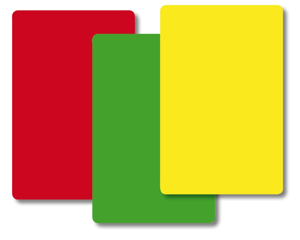 Gelbe Karte Grundschule.Timetex Ampel Karten