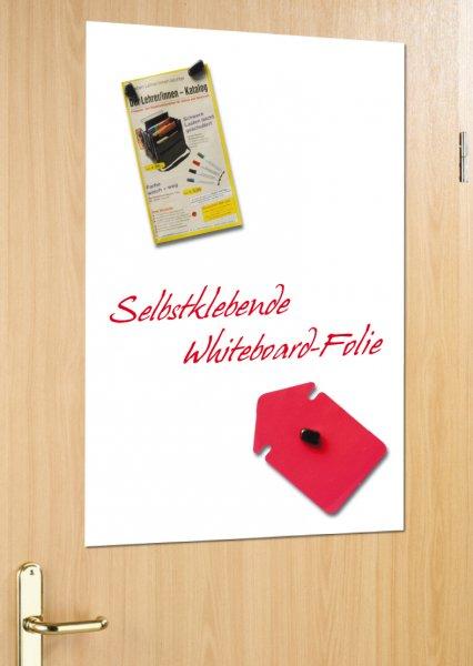 Whiteboard-Folie, selbstkl. + magnethaftend