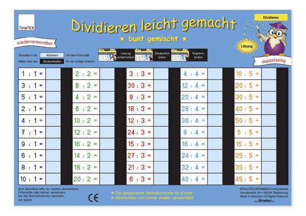 "TimeTEX Zaubertafel ""Mathematik"" Division"