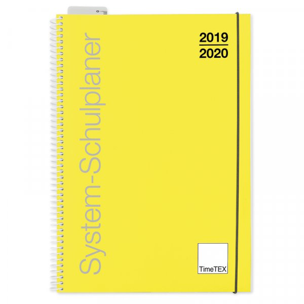 TimeTEX System-Schulplaner Ringbindung A4, gelb, 2019/2020