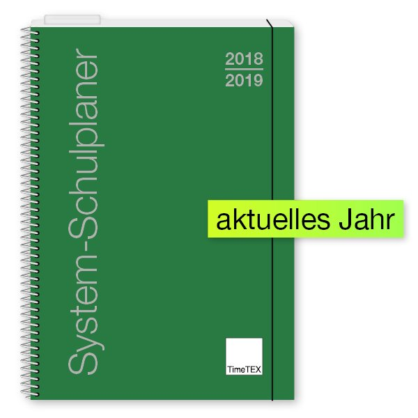 TimeTEX System-Schulplaner A5, grün 2018/2019