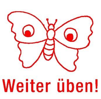"""Siebdruck-Stempel """"Perpetuum"""", Schmetterling """"Weiter üben!"""""""