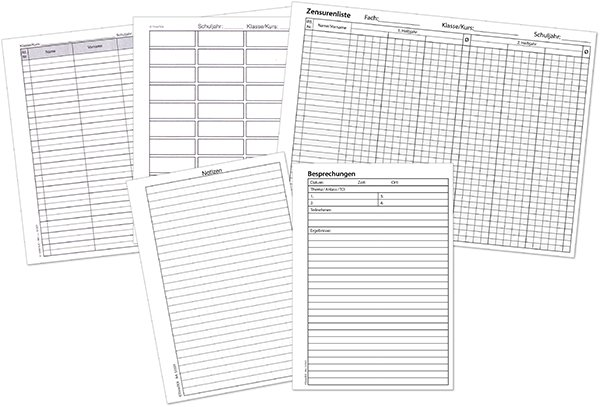 TimeTEX Formularpaket für Ringbuchplaner A6