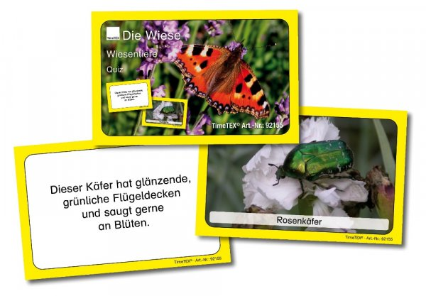 Kartenspiel: Wiesentier-Quiz