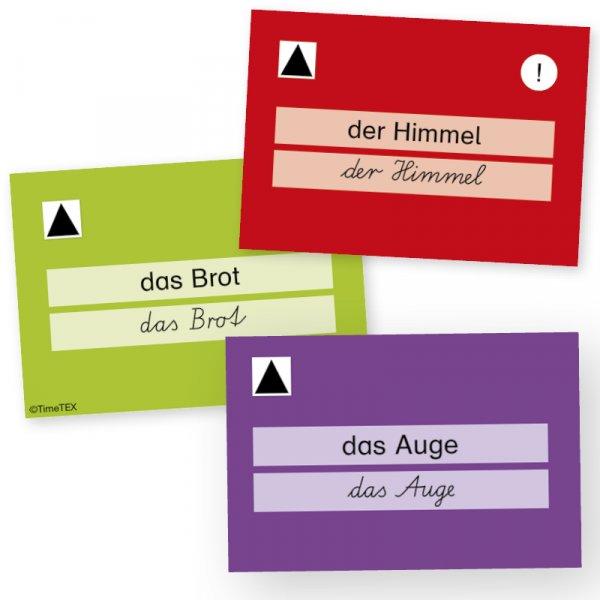 """Karteikarten A8 """"Meine Wörter-Schatztruhe"""" - Grundwortschatz LPPlus, 320-tlg."""
