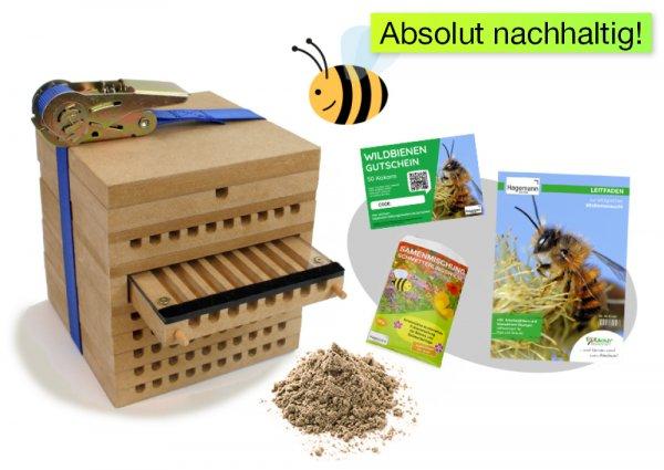 Zuchtset Wildbienen, 5-tlg.