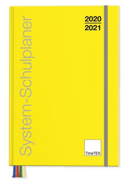 TimeTEX System-Schulplaner A4-Plus, gelb, 2020/2021