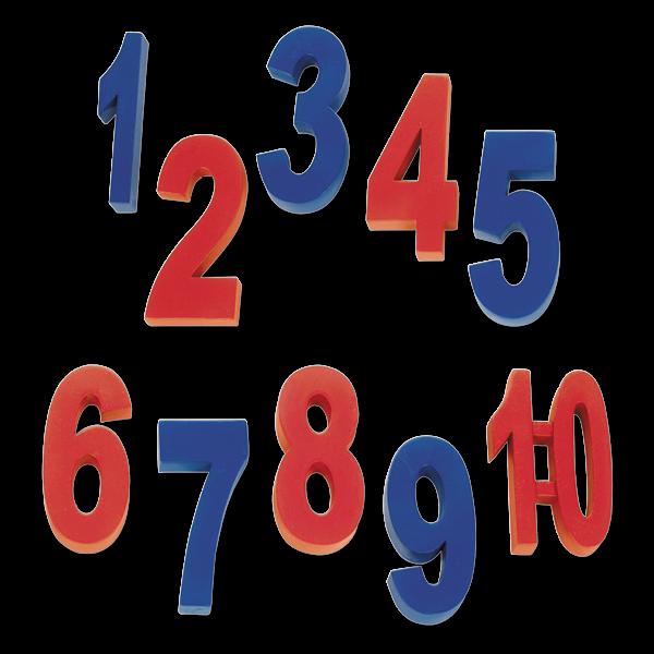 Gewichts-Zahlen-Satz 1-10, 7,5 cm, 10-tlg.