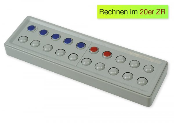 ABACO 20 tricolor rot-blau, Zähl- und Rechenrahmen
