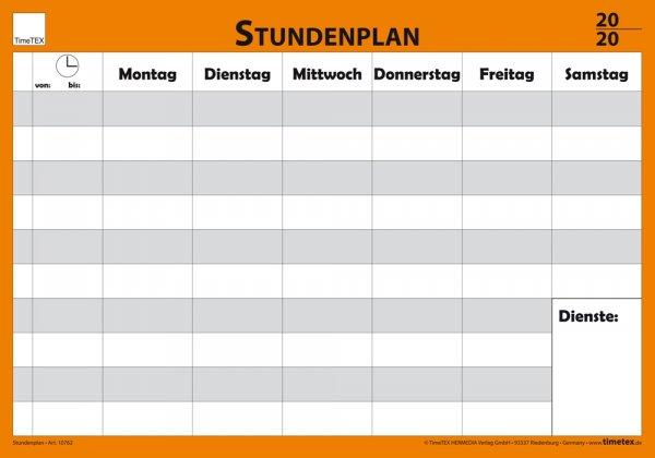 TimeTEX Wand-Stundenplan mit Stift + Klick-Fix-Halter